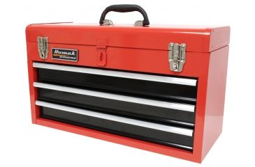 Homak 20in 3 Drawer Toolbox, Red RD01032101