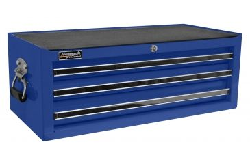 Homak 27in Professional Mid Chest w/ 3 Drawers, Blue BL03032601
