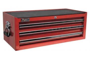 Homak 27in Professional Mid Chest w/ 3 Drawers, Red RD03032601