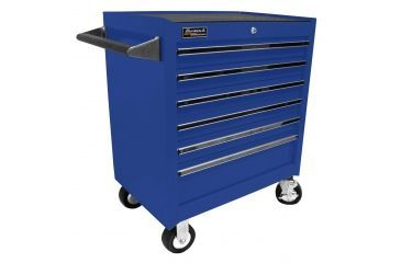 Homak 27in Professional Rolling Cabinet w/ 6 Drawers, Blue BL04062601