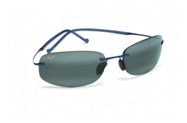 Maui Jim Honolua Bay Sunglasses w/ Blue Frame and Neutral Grey Lenses - 516-03, Quarter View