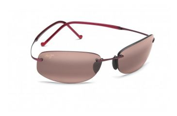 Maui Jim Honolua Bay Sunglasses w/ Burgundy Frame and Maui Rose Lenses - R516-07, Quarter View