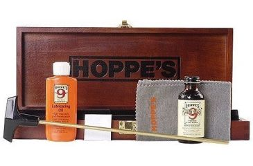 Hoppe's Deluxe Gun Cleaning Kit with Wood Case