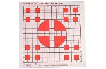 Hoppes 100 yd. Multiple Crosshair Sighting Target 14x14 20 PK S10