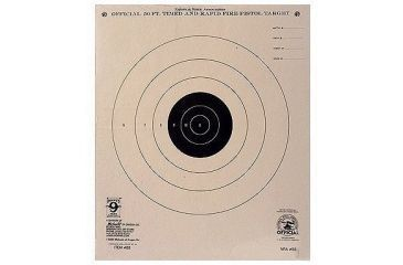 Hoppes 50 ft Timed and Rapid Fire 10 1/2x12 Target B3