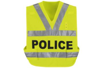 Horace Small Breakaway Hi-Vis Safety Vest, Safety Yellow, Police, RG4XL HS3337RG4XL