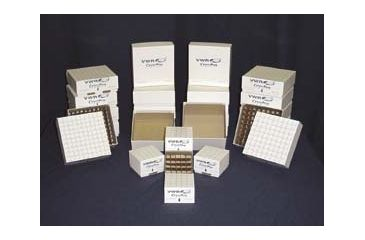 Horizon CryoPro Storage Boxes and Dividers 04A2-VWR-02D Mechanical Cryogenic Freezer Boxes With 81-Cell Divider