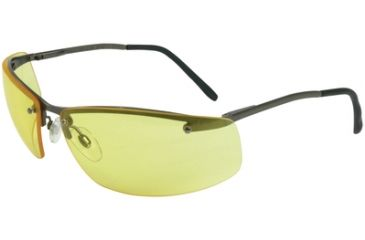 Howard Leight Safety Glasses Slate w/ Metal Frame and Anti Scratch Amber Lenses - Pack of 4