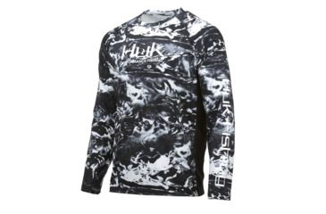 b862d1eaa HUK Performance Fishing Pursuit Camo Vented LS Tops, Long Sleeve - Mens,  Hydro Blackwater