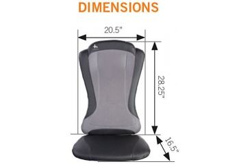 Human Touch  HT1470 Back Massage Pad Dimensions