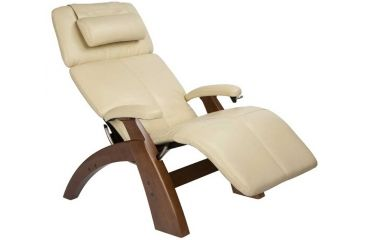 Human Touch Perfect Chair PC 006 - Walnut base, Ivory Chair Pads