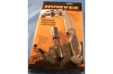 Humvee Emergency Rescue Knife and Tactical LED Flashlight Set, 2-Piece, Black and Grey HMV-KC-ER1-GRY