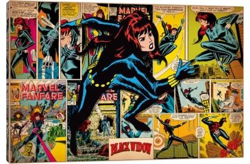 ICanvas Retro Comic Book Cover Canvas Prints By Marvel Comics