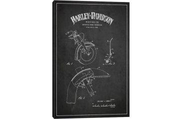 Icanvas harley davidson motorcycle fender patent application icanvas harley davidson motorcycle fender patent application blueprint charcoal by aged pixel canvas print malvernweather Gallery