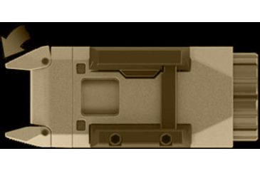 INFORCE Pistol Mounted Light, Constant and Momentary White Light., Flat Dark Earth INF-APL-F-W