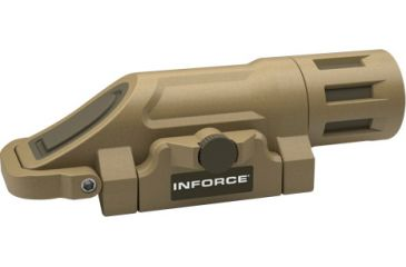 InForce WML, Multifunction Weapon Mounted Light, White LED, 125 Lumens, Desert Sand w/ Momentary Function Only INF-WML-S-W-M