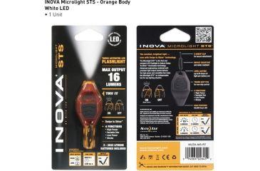 Inova Microlight Swipe To Shine Key Light - Orange/Black MLSA-M3-R7
