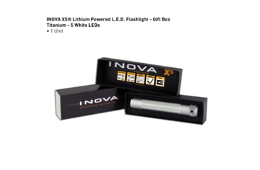 Inova X5 Lithium Powered 31 Lumens LED Flashlight, Titanium, Gift Box X5DM-GT
