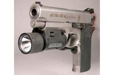 Insight Technology M 3x Tactical Illuminator Mounted on SW 4566 Pistol