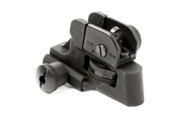 1-JE Machine Tech Match-Grade Fixed/Detachable A2 Rear Iron Sight