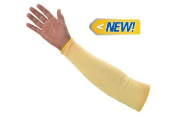 Jackson Safety G60 Level 2 Kevlar Cut Resistant Sleeves, Yellow, 18in. 90071