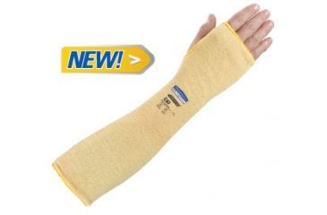 Jackson Safety G60 Level 2 Kevlar Cut Resistant Sleeves, thumble hole, Yellow, 18in. 90070
