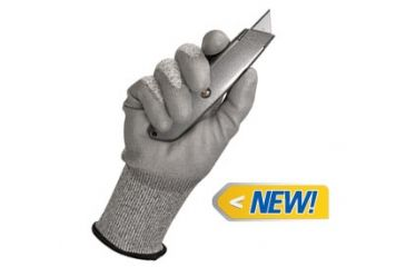 Jackson Safety G60 Level 3 Cut Resistant Gloves with Dyneema Fiber, Grey, Medium 13824