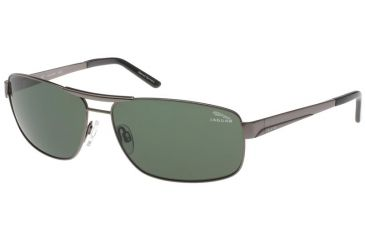 Jaguar 37320 BiFocal Gunmetal Frame,Green Polarized Lenses Mens Sunglasses 37320-420BF