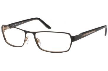 Jaguar Spirit Single Vision 33544 Black-Gold Mens Eyeglasses 33544-610RX