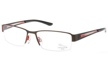 Jaguar Spirit Single Vision 33548 Brown-Black-Red Mens Eyeglasses 33548-764RX