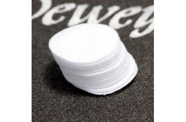 "J. Dewey P-171 1-1/4"" Round Patches 100/bag, White, n/a P171"