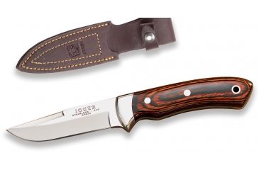 Joker Knives Knife Red Wood Handle 3.51in. Blade, 7.8in. Length CR14USA