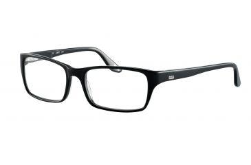 JOOP! 81055 Single Vision Prescription Eyeglasses - Black Frame and Clear Lens 81055-8840SV