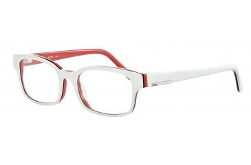 JOOP! 81061 Single Vision Prescription Eyeglasses - White Frame and Clear Lens 81061-6406SV