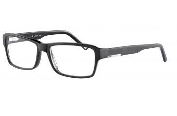 Morgan 201057 Bifocal Prescription Eyeglasses - Black Frame and Clear Lens 201057-6423BI