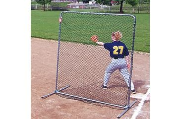 Jugs Sports 6-foot Quick-Snap Baseman Square Sports Screen S1005