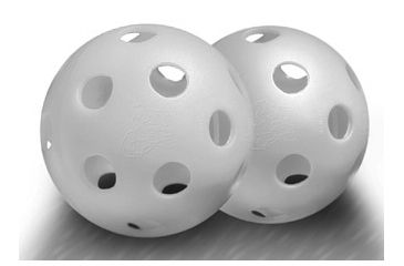 JUGS Bulldog White Poly Baseballs - bulk box of 100 B60006