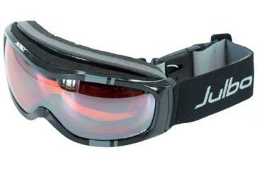 Julbo Cassiopee Rx Insert Goggles - Black Frame, Cat 3 Flash Silver/Orange tint lens 70512140
