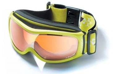 Julbo Cassiopee Rx Insert Goggles - Green Frame, Cat 3 Flash Silver/Orange tint lens 70512160