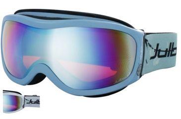 Julbo Cassiopee Rx Insert Goggles - White/Blue Frame, Cat 3 Orange/Flash Silver 70512111