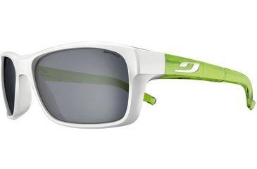 Julbo Colbalt Sunglasses; Shiny White/Green Frames w/ Spectron 3 Lenses 4512011