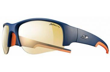 Julbo Dust Sunglasses, Blue/Orange w/ Zebra Light Hard Lenses 4333132