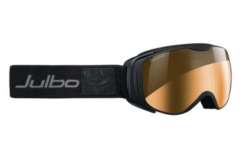 Julbo Luna Goggles, Black w/Camel Double Spherical Lenses And A Silver Flash Treatment 72850143