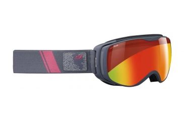 Julbo Luna Goggles, Grey w/Snow Tiger Double Spherical Lenses And A Multilayer Fire Flash Treatment 72873214