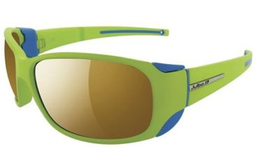 Julbo Montebianco Sunglasses, Apple Green/Blue Frame w/ Camel Lenses 4155016