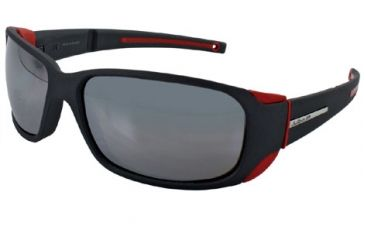 Julbo Montebianco Sunglasses - Soft Black/Red Frame, Spectron 4 Lenses 4151222