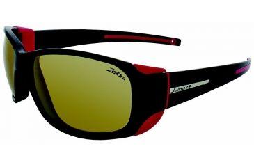 Julbo Monterosa  Sunglasses, Black/Fuchsia w/ Zebra Lenses 4013114