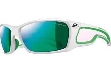 38e9ff0932 Julbo Pipeline Sunglasses - Shiny White/Green Frame Frame w/Spectron 3CF  Lenses 4281111