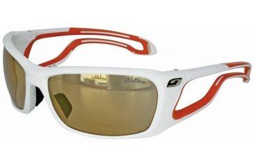 Julbo Pipeline  Sunglasses, White/Orange w/ Zebra Lenses 4283111