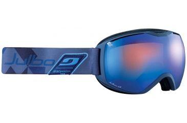Julbo Quantum Goggles, Dark Blue/Blue w/Orange Polarized Cat 3 Double Spherical Lenses And A Multilayer Blue Flash Treatment 73791124
